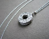 1st Anniversary gift for wife • Handmade minimalist recycled paper necklace • Free worldwide shipping