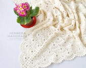 Vanilla crochet baby blanket - Baby Girl Blanket cream blanket Baby wrap blanket MADE TO ORDER