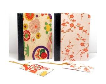 Notebooks, Hardcover Mini Notebooks, Origami Paper Notebook,Decoupage Notebook, Pocket Notebook, Field Journal, Jotter,  Mini Journal