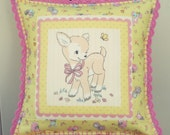 sweet fawn pillow cover 16x16