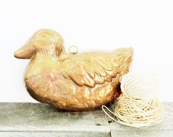 SALE - Copper Duck - Vintage Copper - Wall Decor - Modern Farmhouse Kitchen