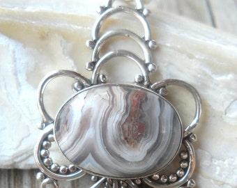 925 Sterling Silver Jasper Pendant