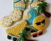 Beach Day / Fun in the Sun / Bikini Sugar Cookies with Buttercream Frosting
