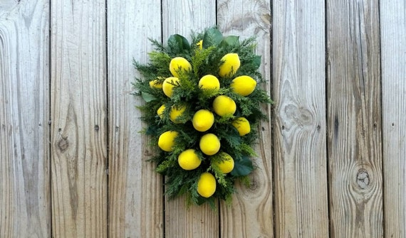 Sugared Lemon Swag, Christmas Teardrop Swag, Christmas Wreath
