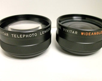 P&B Vivitar Tele-Wide Angle Set Camera Super 8 Japan w/box
