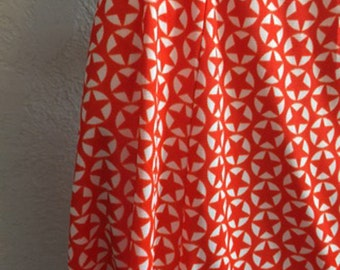 Red & White Star Print Vintage  Mini Skirt with Matching Tie Belt