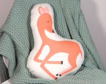 Fawn Animal-Shaped Pillow