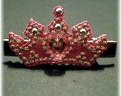 Beautiful Pink Crown Hair Clip, perfect for a little princess!