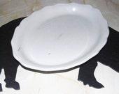 Small White Ironstone Platter ECS