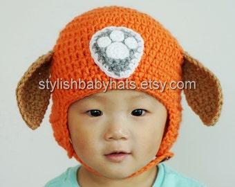 Zuma Hat, PAW Patrol Hat, Crochet Baby Hat, Chocolate Labrador Hat, photo prop, Inspired by Zuma from PAW Patrol