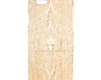 iPhone 6 Aztec Calendar maple phone case
