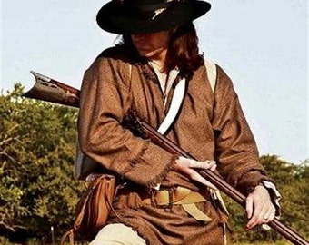 Wool Pullover Frock Longhunter Frontier Rifleman Rendezvous Black Powder Reenactment