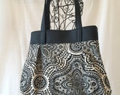 Sweet Pea Purse with Leather, Shoulder Bag, Purse