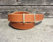 "SALE // 1.25"" Bridle Leather Conway Belt for Men and Women"