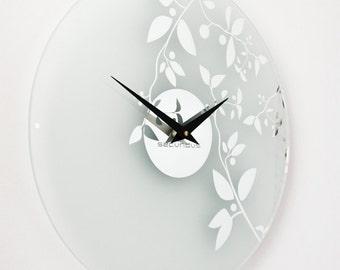 "Wall Clock, Large wall clock, Wall clocks, ""Mirror"", modern clocks, Clock"