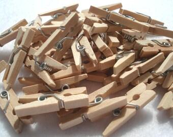 Tiny Craft Pegs, Mini Wood Craft Pegs, Pack of 25 Plain Pegs, PG4