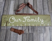 Family Birthday/Celebration Board in Glazed Willow...Family Tree...Brown Tiles.....White Vinyl.....Brown Ribbon....HAVENSPLACE