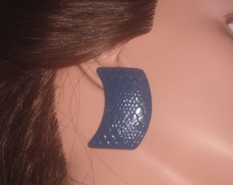 Vintage Navy Blue ABSTRACT EARRINGS