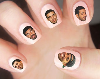 25 DRAKE HEADS Nail Decals Waterslide