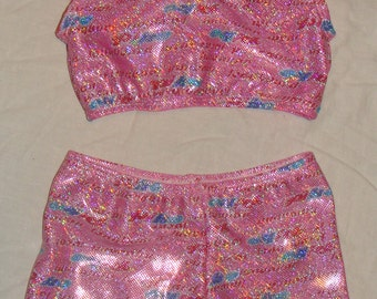 Sports bra and shorts set size 3t