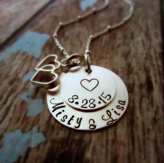 Wedding Date Necklace, Bridal Shower Gift, Wedding Date Jewelry, Gift ...