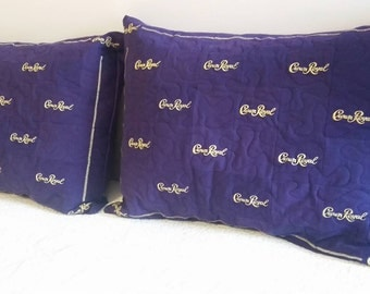 Crown Royal Pillow Shams, Set of 2, Made to Order, You Choose the Pattern to Match your Quilt, Crown Royal Bedroom, Crown Royal Gifts