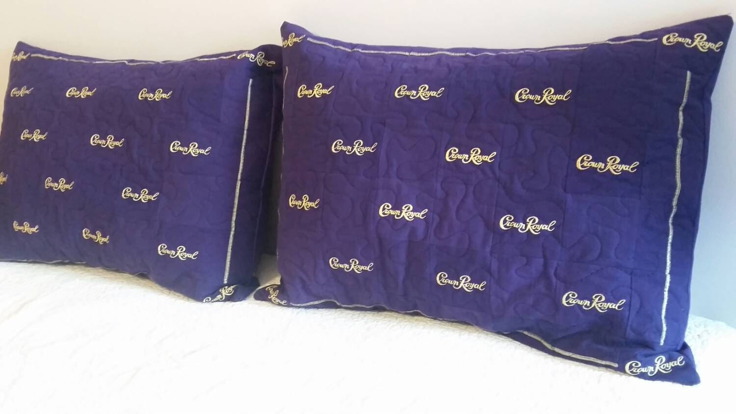 Crown Royal Pillow Shams Set of 2 Made to Order You Choose