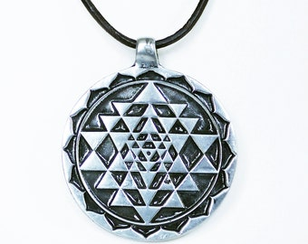 Sri Yantra Shiva Shakti Tantra Pendant Sacred Geometry