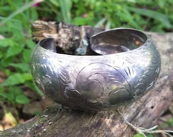 Sterling Silver Wide Cuff Bracelet A329