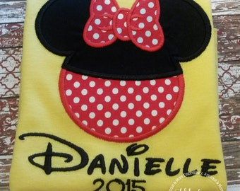 Gorgeous Custom embroidered Disney Vacation Shirts for the Family!