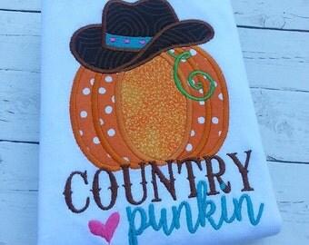 Country Punkin Pumpkin Trick or Treat Halloween Custom Tee Shirt - Customizable