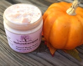 Natural Vegan Lotion, Pumpkin Hand Cream, Fall Scented Hand and Body Lotion