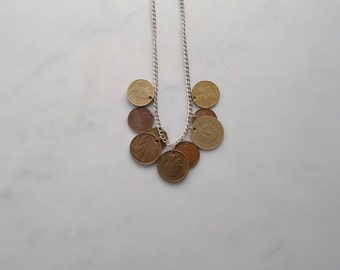 Foreign coin necklace