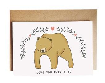 Love You Papa Bear Card