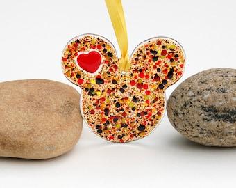 Fused Glass Mouse Ears Suncatcher - Ornament