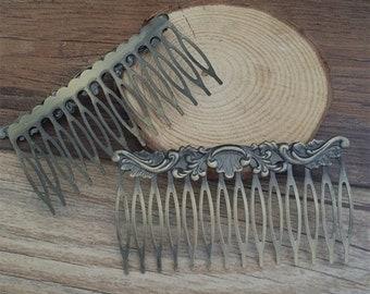 5pcs 14Teeth 72mmx50mm  Metal  Hair Combs