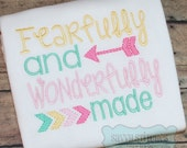 Fearfully and Wonderfully Made Machine Embroidery design