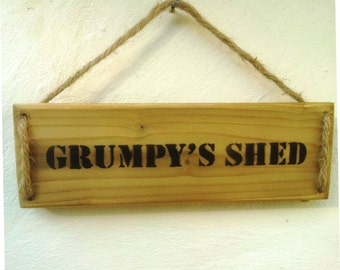 Wall Plaque - Grumpy's Shed