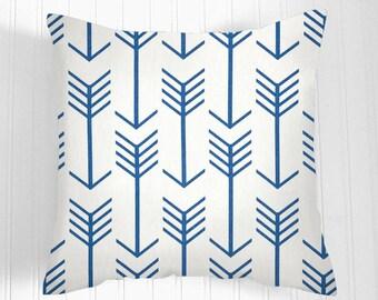 "Blue  Green Pillow Cover.Decorator Pillow Cover.Home Decor."" Arrows"" .18 X 18  20 X 20 Cushions. Cushion.Pillow. Premier Prints"