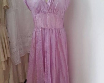 Vintage 1940s - 50's lilac evening dress, gown