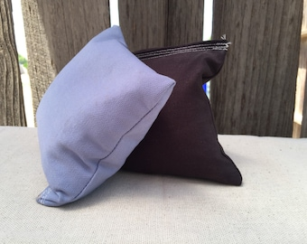 Cornhole Bags Periwinkle and Black