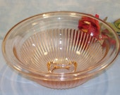 Federal Pink Depression Glass Mixing Bowl 9.5 inch