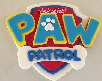 Paw Patrol Inspired Fondant cake topper