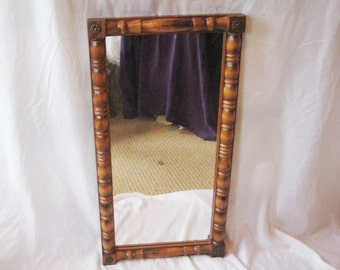 Wall mirror, entry way mirror, wood mirror, decorative country mirror
