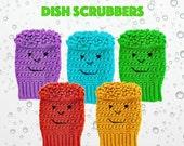 Crochet Pattern Dishtowel Scrubby PDF 15-198 INSTANT DOWNLOAD