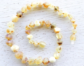 Wholesale 10 raw Baltic amber teething necklaces