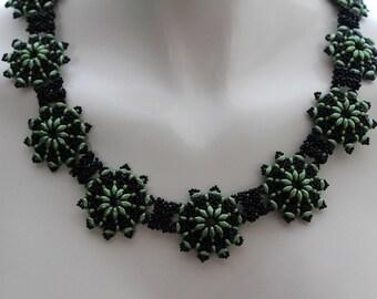 Along Joanne's Malta Shores, OOAK.handmade, beadwoven, necklace