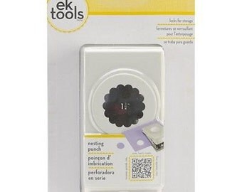 "1.25"" Scallop Circle Nesting Large Slim Profile Paper Punch by EK Success"