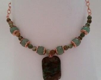 Adventurine and Opalite necklace