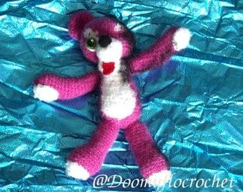 Breaking Bad Pink Teddy Bear crochet style